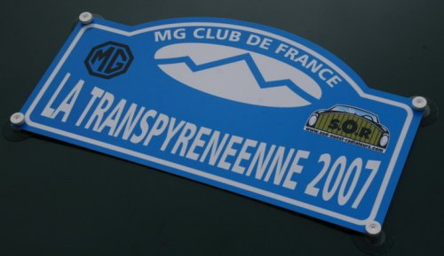 Plaque Rallye TPyr2007 - Photo André Pons